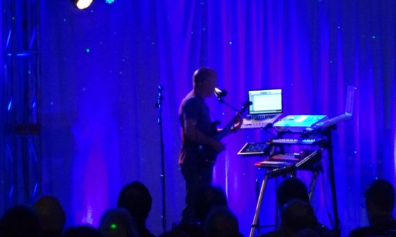 Californian synthesist Michael Stearns on stage at Ambicon 2013